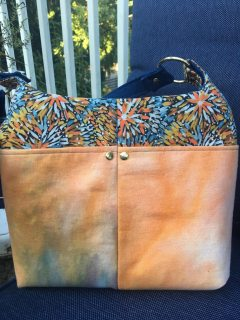 hand dyed fabric purse