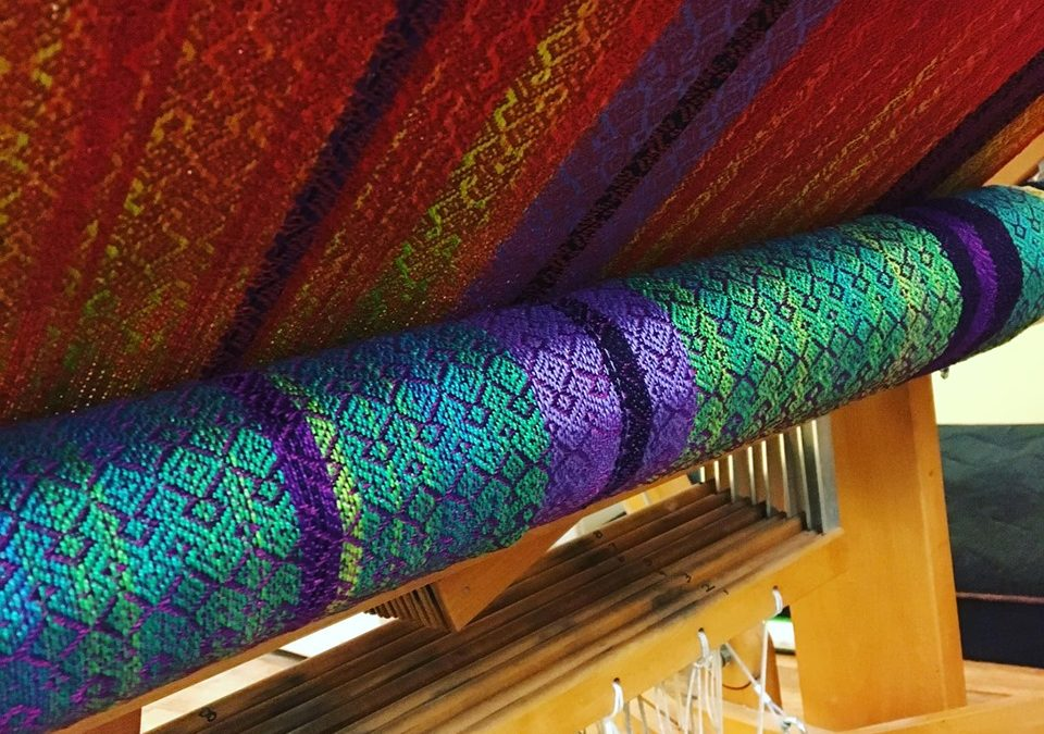 vibrant thread colours woven into beautiful fabric